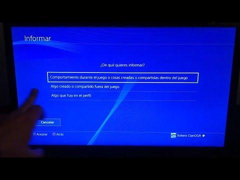 Cómo informar y denunciar en PS4