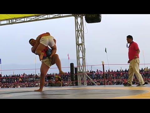 Vekutho Soho wrestling matches at Chakhesang Wrestling Meet 2020