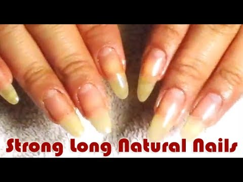 strong long natural nails crystal