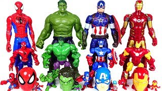 Marvel Avengers bigger and smaller transform! Hulk, Spider Man, Iron Man rush! - DuDuPopTOY