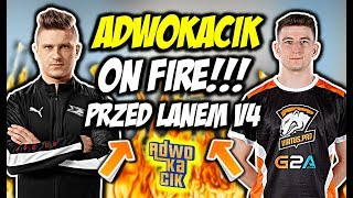 "ADWOKACIK ON FIRE PRZED LANEM V4!!! JEDQR ""AIM FROM POLAND"", MYNIO 1vs2 - CSGO BEST MOMENTS"