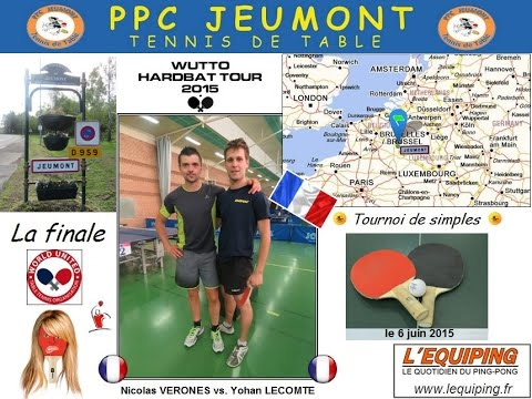Tournoi WUTTO Hardbat Tour 2015 au PPC Jeumont_France - le 6