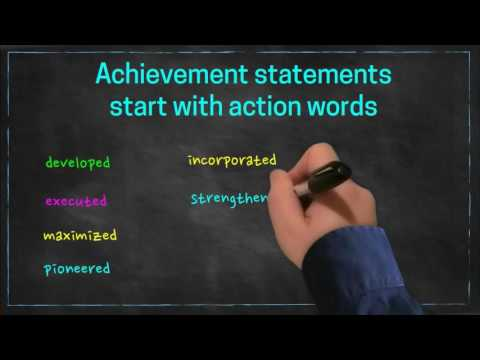 Resume Experience Section: Achievement Statements