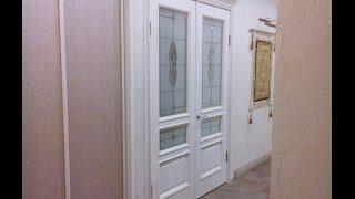 Дверь Вена белая патина витраж(Межкомнатная дверь Вист Вена дуб тон 17 стекло витражное ..., 2015-11-17T16:26:01.000Z)