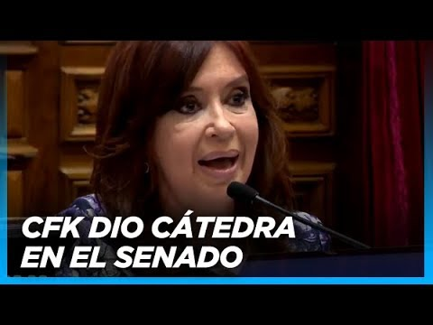 MAGISTRAL Intervención completa de Cristina en el Senado por el Presupuesto 2019
