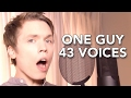 one guy 43 voices with music roomie