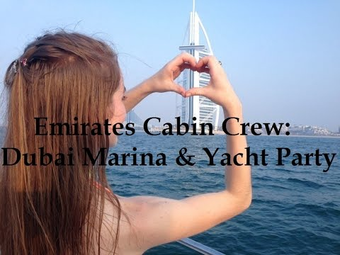 Emirates Cabin Crew: Dubai Marina + Yacht Party
