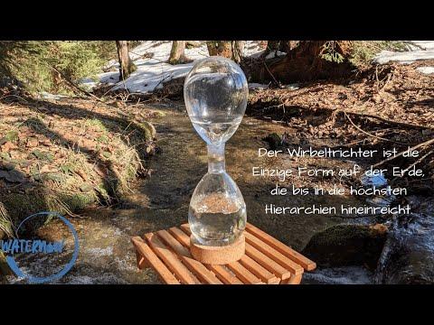 hand wasserwirbler glas wasserwirbler bio wasserwirbler lebendiges wasser viktor. Black Bedroom Furniture Sets. Home Design Ideas
