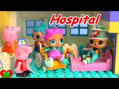 Thumbnail: LOL Surprise Doll Falls Off Spirit Riding Free Peppa Pig Hospital