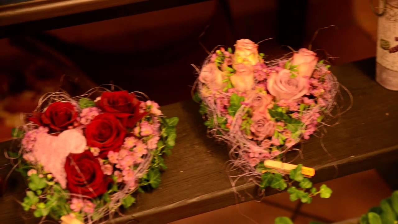 Eine gute Idee fr den Valentines DayBlumen herzmp4  YouTube