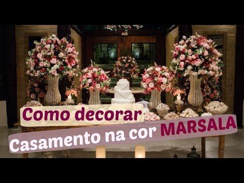 Como decorar o casamento com a Cor Marsala