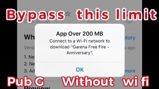 How to download apps larger than 200 mb on iPhone without wifi |apple tricks |Bypass 200 mb limit
