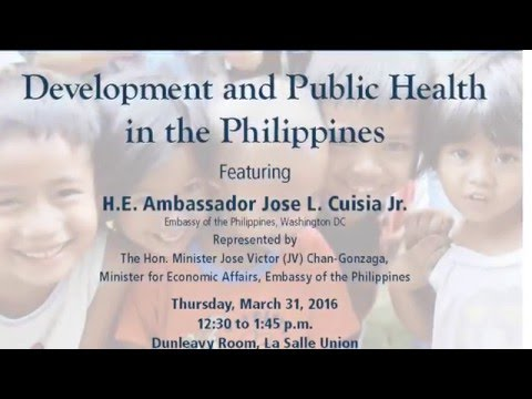 Development & Public Health in the #Philippines - Jose Victor Chan-Gonzaga #LaSalleUniversity