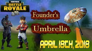 Randomly Getting Ultra Rare Founders Umbrella!! Fortnite Battle Royale