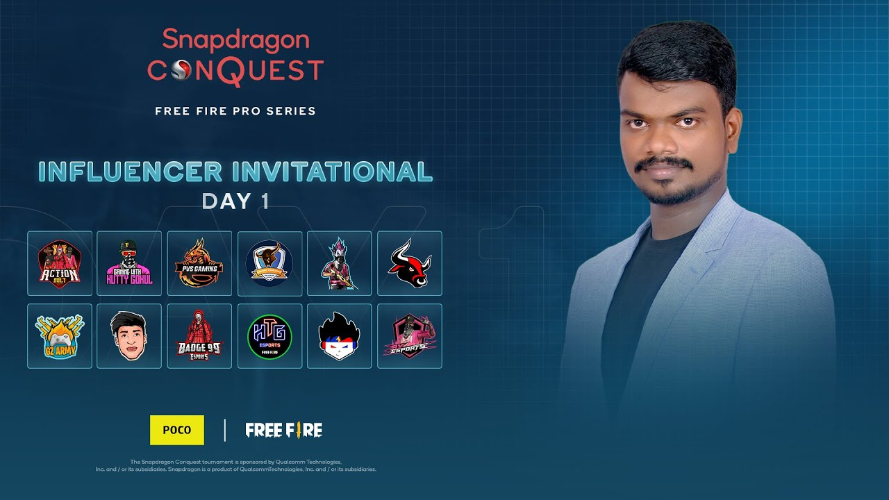 Download PVS ESPORTS PLAYING INFLUENCER INVITATIONAL  DAY 1   SNAPDRAGON CONQUEST: FREE FIRE PRO SERIES