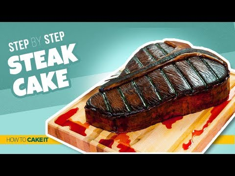 How To Make a STEAK CAKE | Step By Step | How To Cake It | Yolanda Gampp
