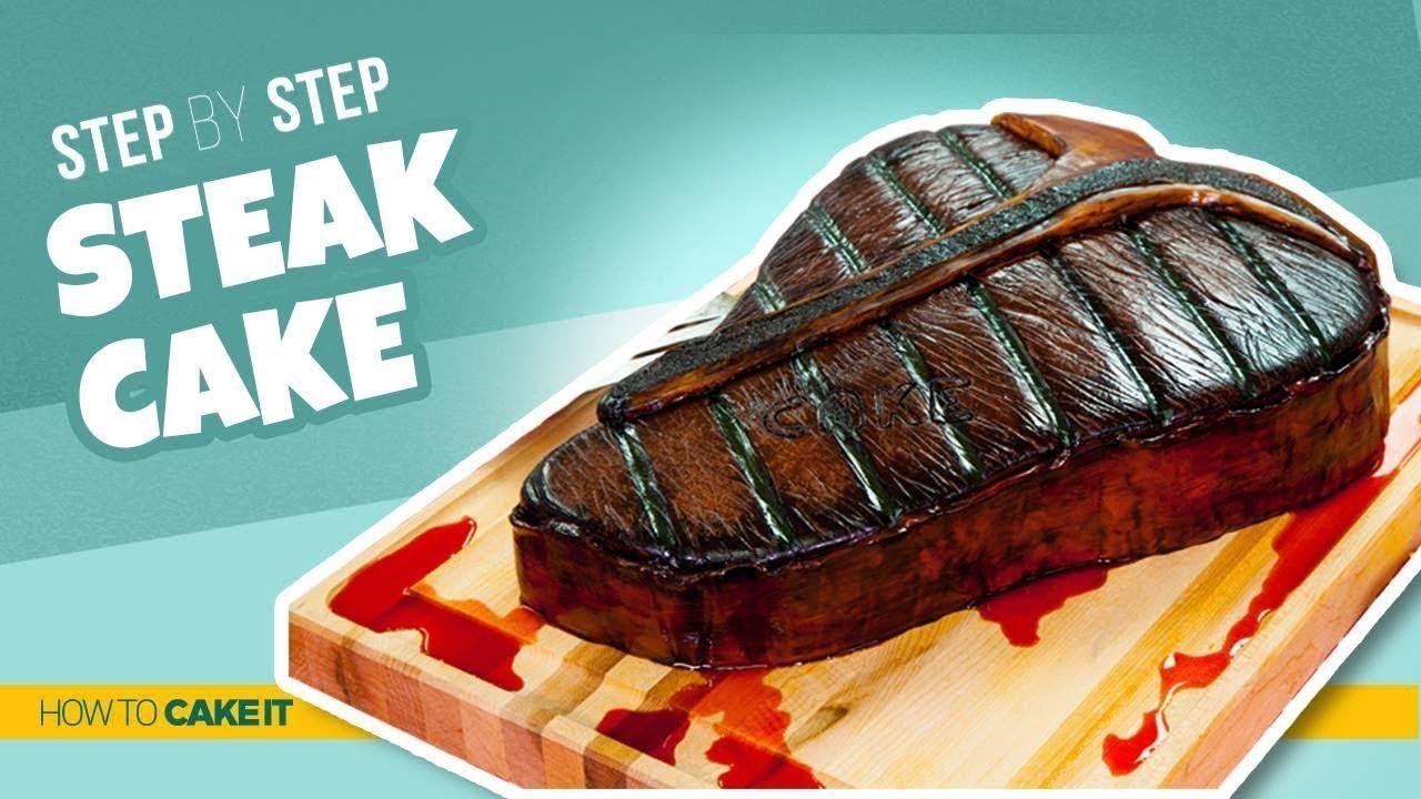 How To Make a STEAK CAKE | Step By Step | How To Cake It | Yolanda Gampp
