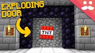 Door that EXPLODES to Open in Minecraft