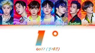 Got7 갓세븐 1 Degree Han Rom Eng 가사 Color Coded MP3