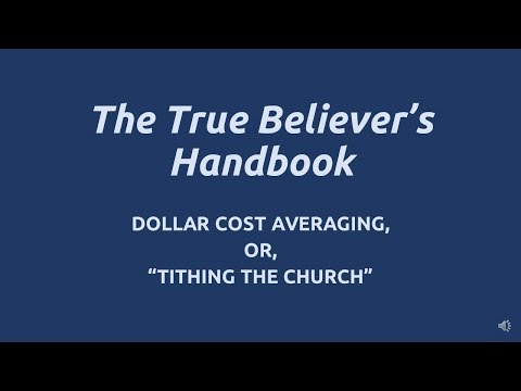 Tithing The Church OfBitcoin - Dollar Cost Averaging