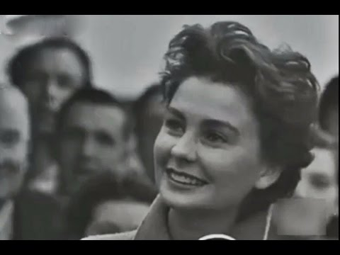 1950 British Actress Jean Simmons Arrives in London, from New York. Hollywood Success