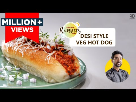Best & Easy Veg Hot dog recipe | वेज हॉट डॉग घर पे | Chef Ranveer Brar