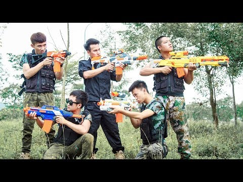 Nerf War Game : Special Police SWAT Nerf Guns Battle Group Crime Of Dangerous