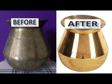 How to Clean Brass Vessels at Home || Very Easy || The best trick to CLEAN BRONZE