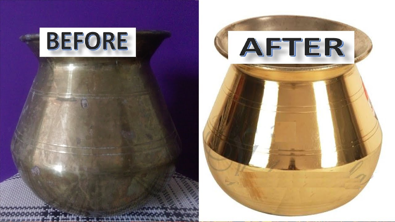 How To Clean Brass Vessels At Home Very Easy The Best Trick Bronze
