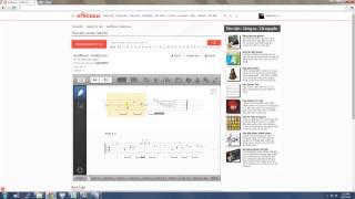 Hướng dẫn sử dụng chức năng Guitar tab của hocdan.com