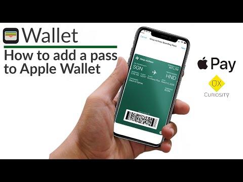 Apple Wallet: Add Passes (2019)