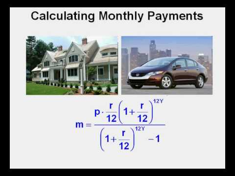 Calculating Monthly Payments - YouTube