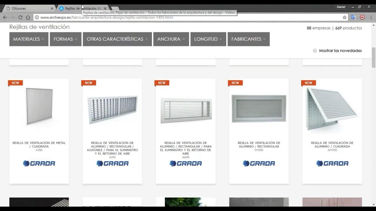 Tipos de difusores y rejillas en ventilaci n y aire - Rejillas de ventilacion ...