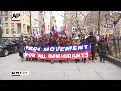NYC Protesters Denounce Trump Over Haiti