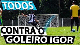 TODOS CONTRA O GOLEIRO IGOR - CAIO LO / VITOR LO / BZK / TULINHO - QUEM VENCEU? {BZK}