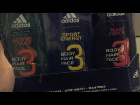 Adidas  gift set 3 body,hair,face wash unboxing  active start , sport energy  and team force.