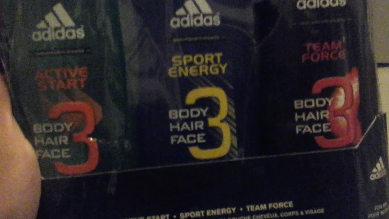 711b9887eb3c Adidas gift set 3 body,hair,face wash unboxing active start , sport energy  and team force.