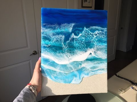 Ocean Epoxy Resin Painting - Demo by DiankaPours
