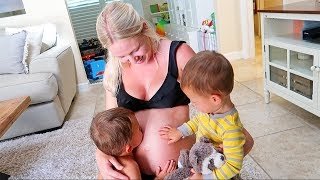 The Kids Missed Mommy's Belly Bump More!