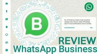 REVIEW - Cara menggunakan WhatsApp Bisnis (WhatsApp Business)