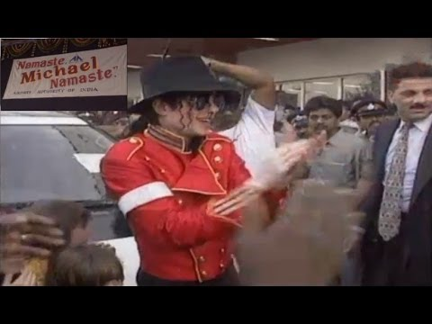 Michael Jackson in Mumbai, India 1996
