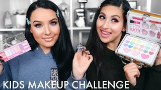 KIDS MAKEUP CHALLENGE WITH AMANDA ENSING | BEAUTYYBIRD