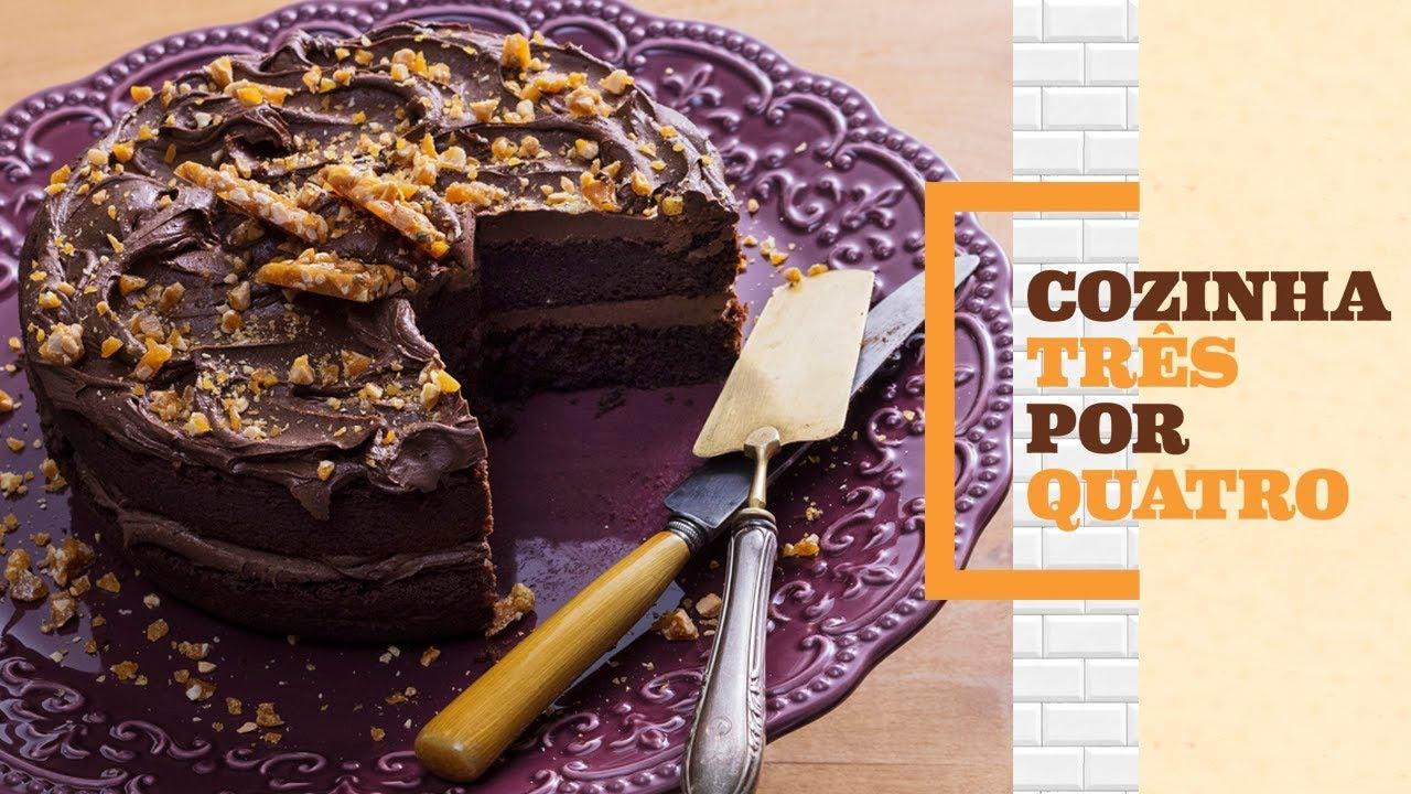 0ba12519c Como fazer bolo de chocolate | Cozinha 3 por 4 com Rita Lobo | Panelinha