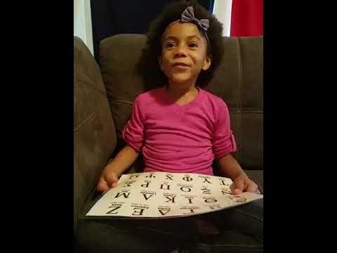 Rosie Learning the Greek Alphabet