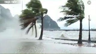 Weakened Typhoon Haiyan hits Vietnam