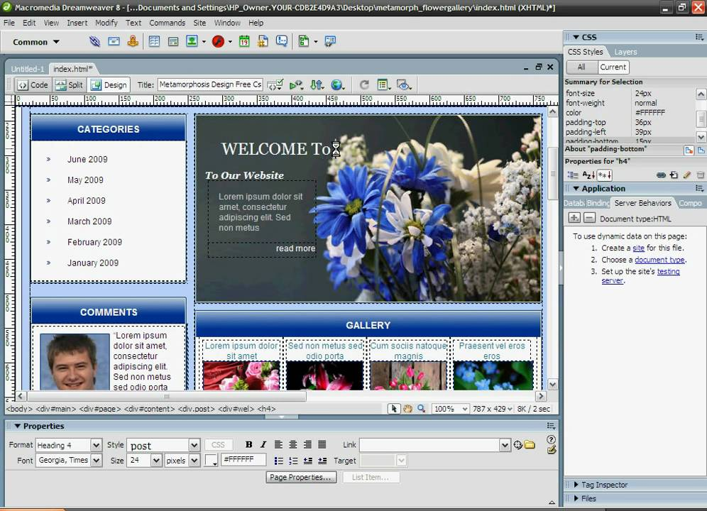 How to download and edit a template with Dreamweaver 8 or CS3 - YouTube