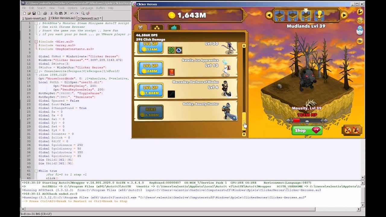 Clicker Heroes Autoit Bot