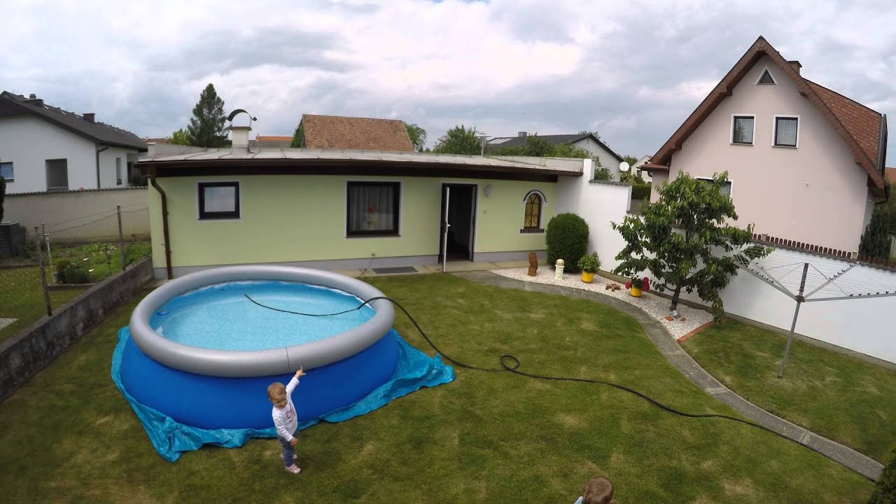 Pool Komplettset Amazon Bestway Fast Set Pool 366x91cm Set Up Timelaps