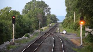 Amtrak Empire Builder Siding Reverse move RARE VIEW