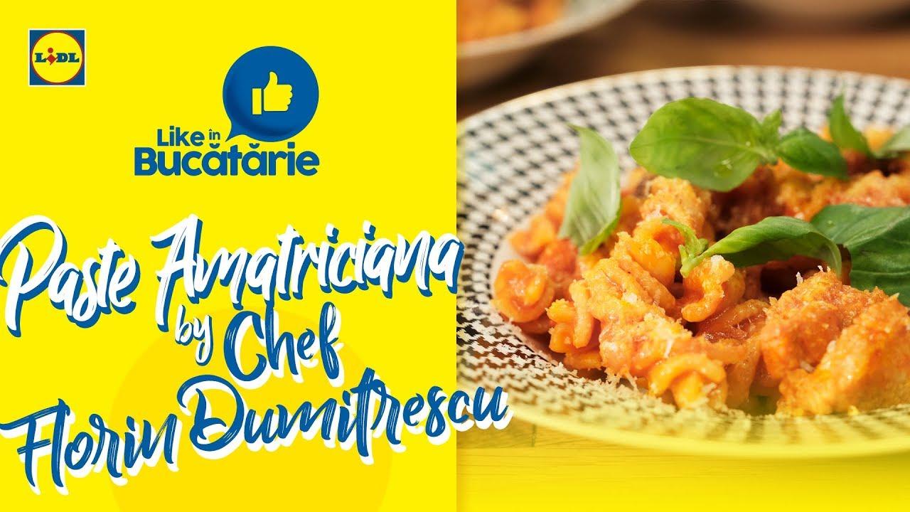 Paste amatriciana • Reteta Chef Florin Dumitrescu